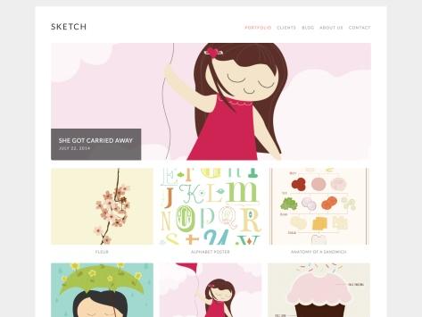 Sketch WordPress Theme
